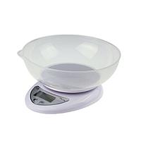 Весы кухонные электронные до 5кг, точность 1г, с чашей (01695)