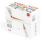 Набор  качественных двусторонних маркеров Rich New для рисования и  скетчинга на спиртовой основе  60 штук, фото 4