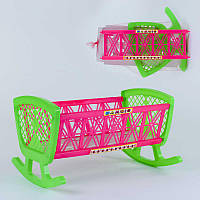 Кроватка для куклы Bamsic розовая R180434