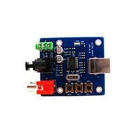 Внешний аудио USB ЦАП, звуковая карта PCM2704 (00063)