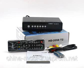 Тюнер цифровий UKC DVB-T2 2058 Metal з підтримкою wi-fi адаптера