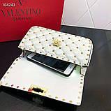 Сумка, клатч от Валентино Rockstud 20 см кожаная реплика, фото 3