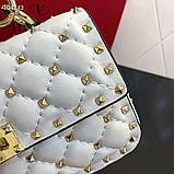 Сумка, клатч от Валентино Rockstud 20 см кожаная реплика, фото 6