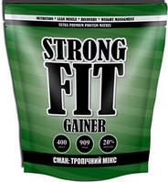 Гейнер Strong FIT Gainer 20% protein (909 g тропічний мікс)