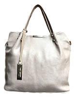 Вместительная брендовая женская сумка Gilda Tohetti бежевая