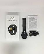 Умный фитнес браслет Lemfo Q8 c измерением пульса и давления (Черный), фото 6
