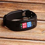 Умный фитнес браслет Lemfo P3 Plus с ЭКГ и тонометром (Черный), фото 2