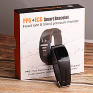 Умный фитнес браслет Lemfo P3 Plus с ЭКГ и тонометром (Черный), фото 3