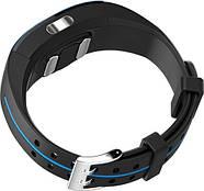 Умный фитнес браслет Lemfo P3 Plus с ЭКГ и тонометром черный с синим, фото 2