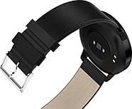 Умный фитнес браслет Lemfo CF18 leather с измерением давления (Черный), фото 5