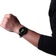 Умный фитнес браслет Lemfo CF18 leather с измерением давления (Черный), фото 6
