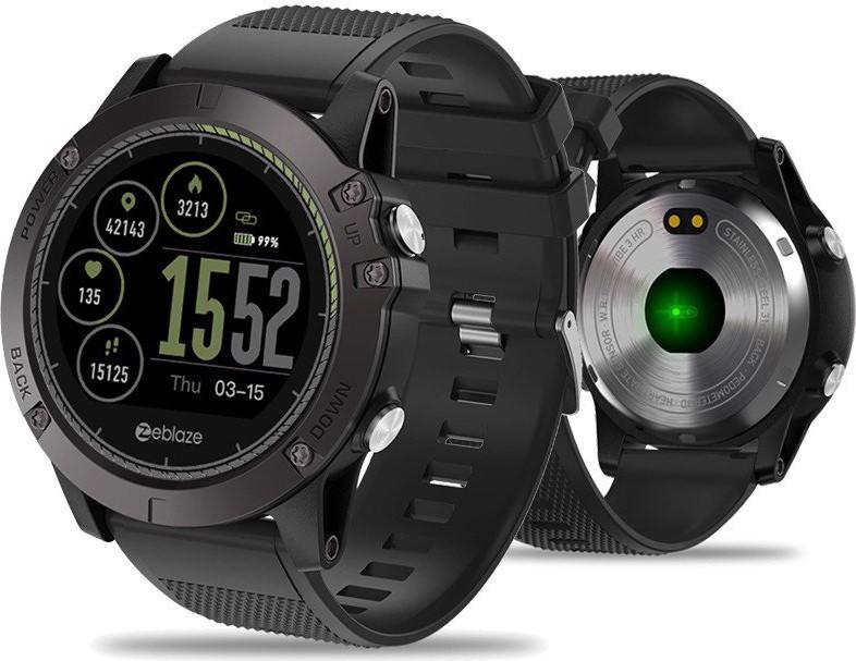 Умные часы Zeblaze VIBE 3 HR с пульсометром и шагомером (Черный)
