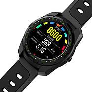 Умные часы King Wear KW01 с влагозащитой и пульсометром (Черный), фото 4