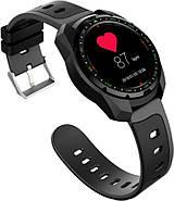 Умные часы King Wear KW01 с влагозащитой и пульсометром (Черный), фото 5