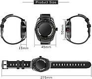 Умные часы King Wear KW01 с влагозащитой и пульсометром (Черный), фото 8