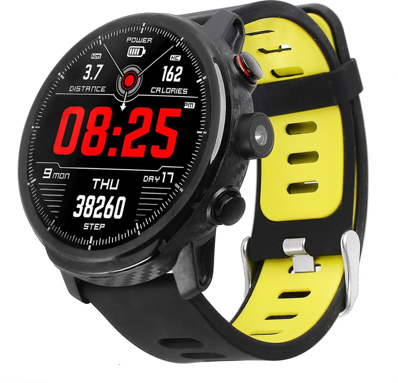 Умные часы Blaze Light со спортивными режимами и влагозащитой (Черно-желтый)