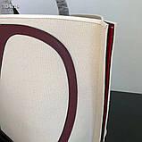 Сумка шоппер від Валентино натуральний текстиль і натуральна шкіра, фото 8