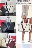 Сумка шоппер від Валентино натуральний текстиль і натуральна шкіра, фото 10