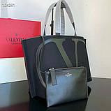 Сумка шоппер от Валентино натуральный текстиль и натуральная кожа, фото 3