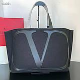 Сумка шоппер от Валентино натуральный текстиль и натуральная кожа, фото 6