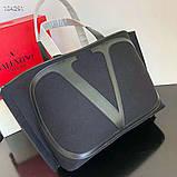 Сумка шоппер от Валентино натуральный текстиль и натуральная кожа, фото 7