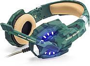 Геймерские наушники Kotion Each G9600 с подсветкой (Хаки), фото 2