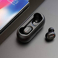 Беспроводные Bluetooth наушники QCY QS1 (T1C) с зарядным кейсом (Черный), фото 5