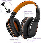 Беспроводные Bluetooth наушники Kotion EACH B3506 со складной конструкцией (Черно-оранжевый), фото 2
