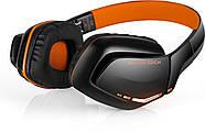 Беспроводные Bluetooth наушники Kotion EACH B3506 со складной конструкцией (Черно-оранжевый), фото 4