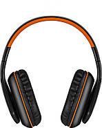 Беспроводные Bluetooth наушники Kotion EACH B3506 со складной конструкцией (Черно-оранжевый), фото 5