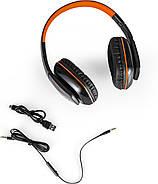 Беспроводные Bluetooth наушники Kotion EACH B3506 со складной конструкцией (Черно-оранжевый), фото 6