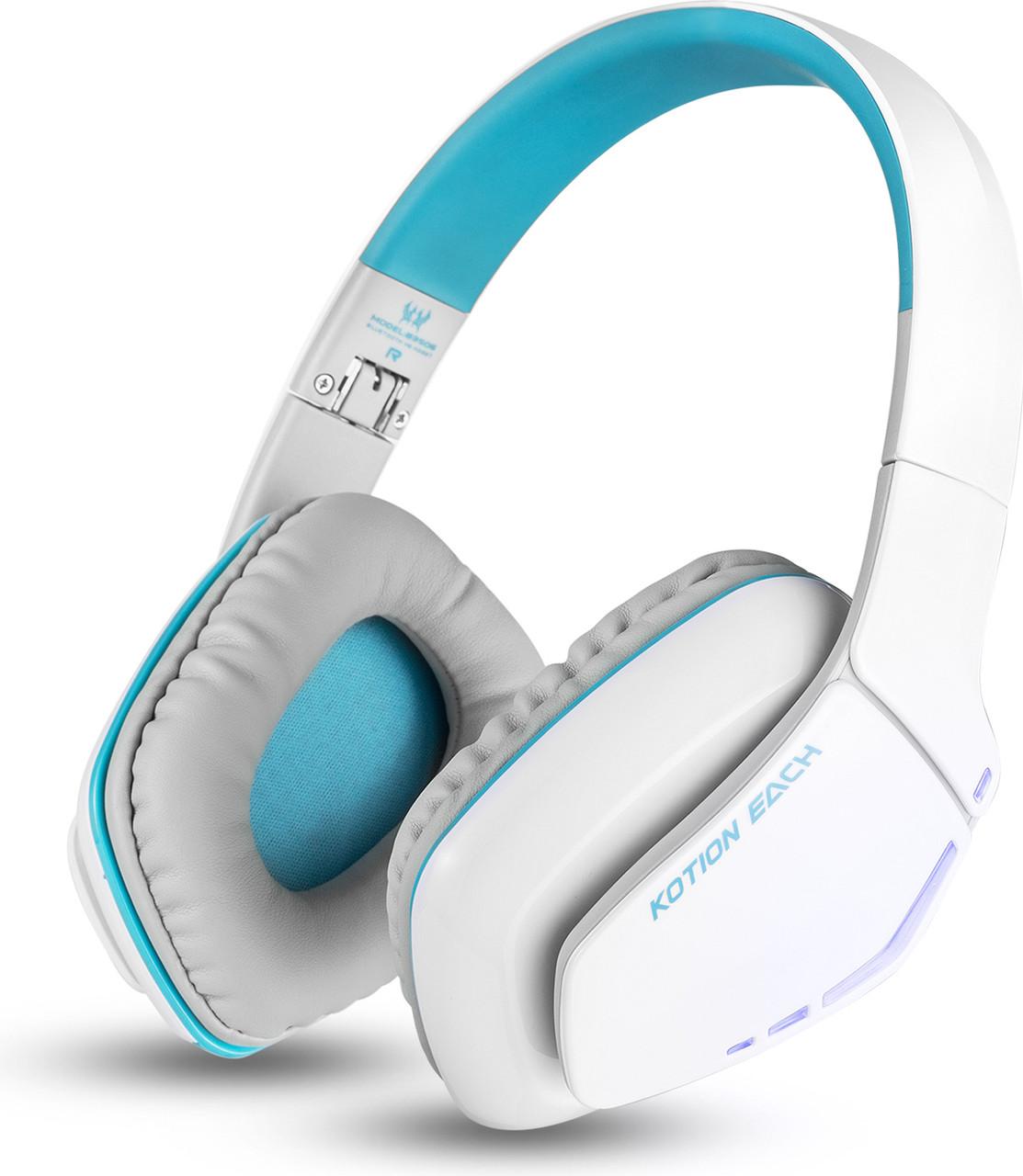 Беспроводные Bluetooth наушники Kotion EACH B3506 со складной конструкцией (Бело-голубой)
