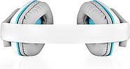 Беспроводные Bluetooth наушники Kotion EACH B3506 со складной конструкцией (Бело-голубой), фото 4