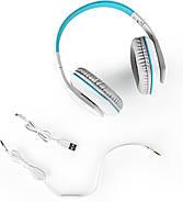 Беспроводные Bluetooth наушники Kotion EACH B3506 со складной конструкцией (Бело-голубой), фото 5