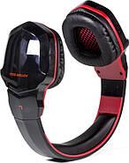 Беспроводные Bluetooth наушники Kotion Each B3505 с автономностью до 10 часов (Черно-красный), фото 3