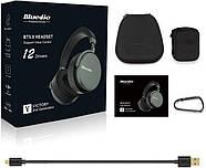 Беспроводные Bluetooth наушники Bluedio V2 с 12 динамиками (Черный), фото 4