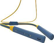 Беспроводные Bluetooth наушники Bluedio TN2 с шейным ободом и активным шумодавом (Синий), фото 5