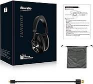Беспроводные Bluetooth наушники Bluedio T6S с датчиками снятия (Черный), фото 8