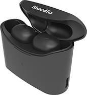 Беспроводные Bluetooth наушники Bluedio T Elf с зарядным кейсом (Черный), фото 3