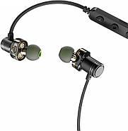 Беспроводные Bluetooth наушники Awei X670BL с двойными динамиками (Черный), фото 3