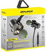 Беспроводные Bluetooth наушники Awei X670BL с двойными динамиками (Черный), фото 5