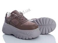 """Кроссовки демисезонные женские """"Ailaifa"""" #J02 brown. р-р 36-40. Цвет коричневый. Оптом"""