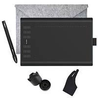 """Профессиональный графический планшет с пером HUION 1060 Plus 8192 10x6.25"""" комплект"""