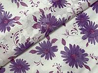 Коттон рисунок цветы, фиолетовый