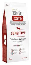 Сухой корм для собак с чувствительным пищеварением Brit Care Sensitive Venison & Potato с олениной 12 кг