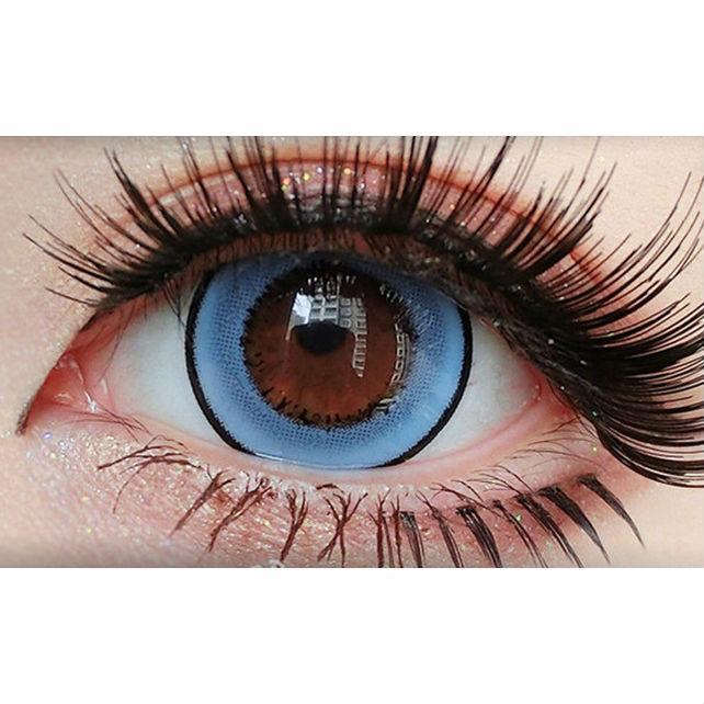 """Цветные линзы для глаз """"Donut Blue"""" для светлых и тёмных глаз. Купить цветные линзы недорого Украина!"""