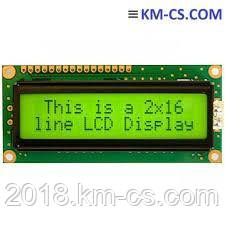 ЖКИ символьный (Character Display Modules) JA-SCB16203S-YN6T-LY (Je-An)