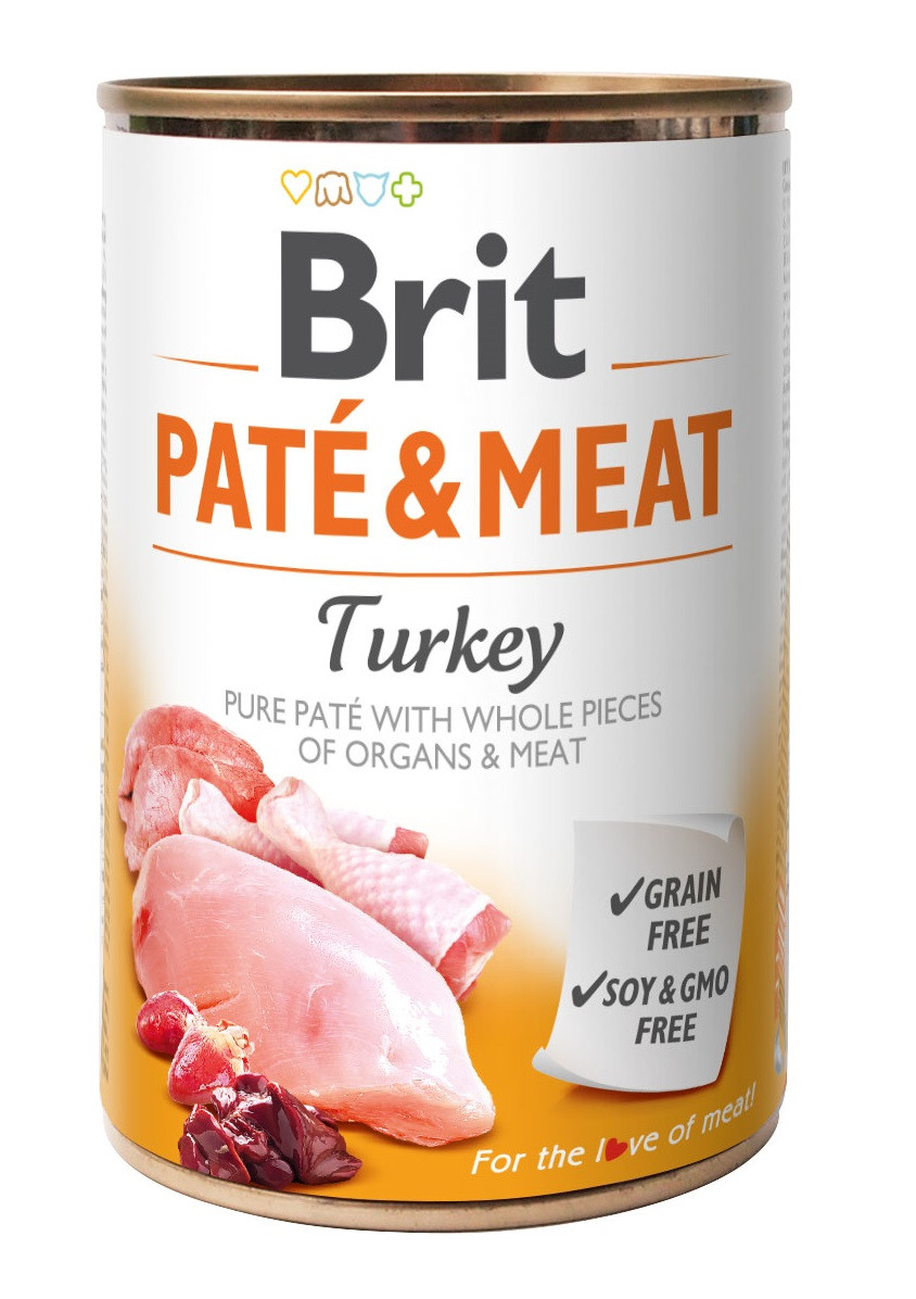 Влажный корм для собак Brit Pate & Meat Turkey с индейкой 400 г