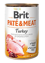 Вологий корм для собак Brit Pate & Meat Turkey з індички 400 г