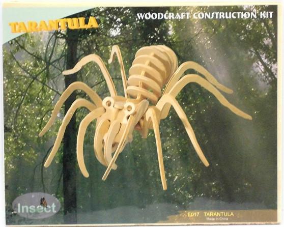 Сборная 3D модель тарантула